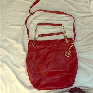 Michael Kors red medium handbag